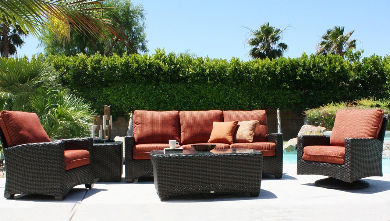 The Kapaa (formerly the Ventura) - Patio Renaissance The Kapaa 3 Piece Deep Seating Sofa Group