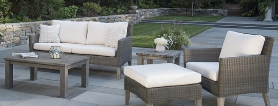 Wicker Outdoor Deep Seating - Kingsley Bate Paris