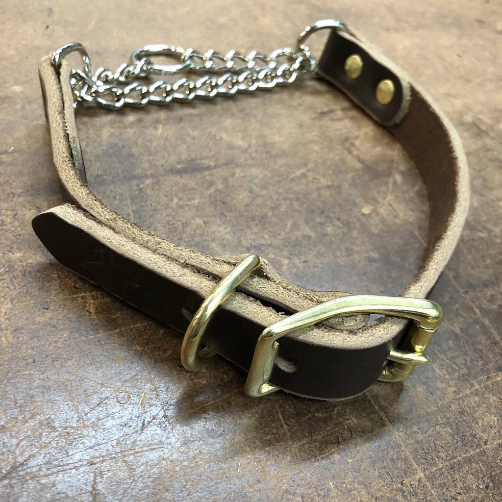 Latigo Leather Martingale Collar