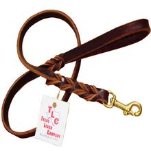 "Original Braided Leather Leash - ½"""