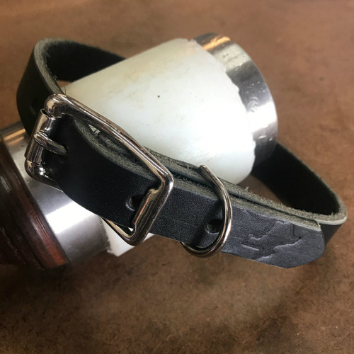 """Classic"" Leather Collar - Nickel Silver Hardware"