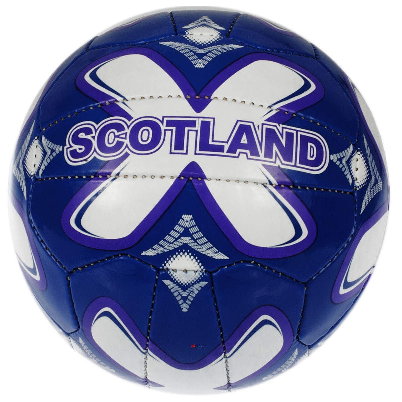 fa4aa7f2732 Adult Soccer Full Size Scotland Large Football Blue Purple White ...