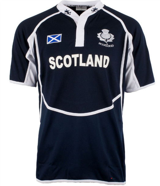 New Cooldry Scotland Rugby Shirt Lion Em Navy