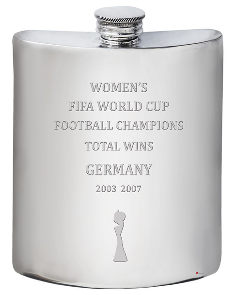 Germany Fifa Women's World Cup Champions Total Wins 6oz Hip Flask