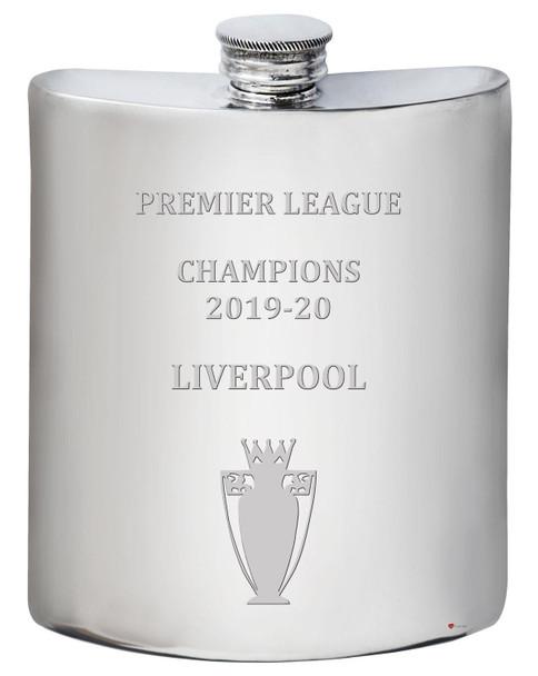 6oz Hip Flask Premier League Champions Liverpool 2019-20