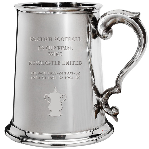 Newcastle United English FA Cup Winner 1pt Pewter Tankard