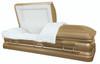 Champagne Gold Finish Casket with Light Cream Velvet Interior