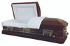 Rose Red With Cream Interior Casket