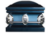 'Praying Hands' Spruce Blue Casket - Metal Casket