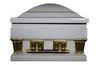 """Franklin Antique White Gold Finish With White Velvet Interior - Standard Oversize 27.5"""""""