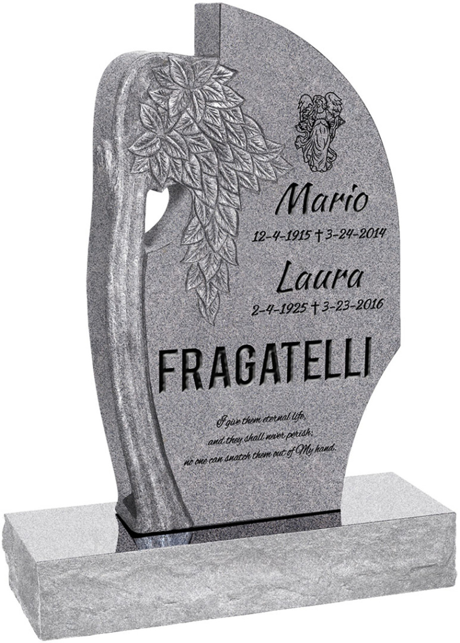"""Olive Tree Headstone with 34"""" Base - Polished All Sides ..."""