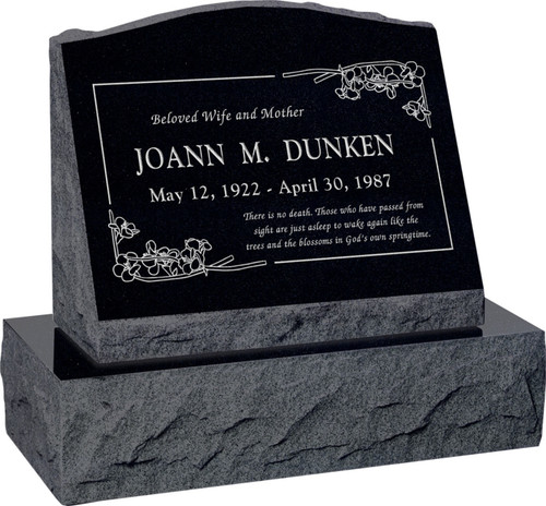 Slant Headstone with Base - 10 Color Choices! Starting at $1484