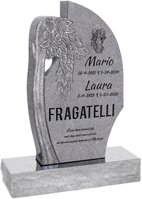"""Olive Tree Headstone with 34"""" Base - Polished All Sides - 10 Color Choices - Starting at $2299"""
