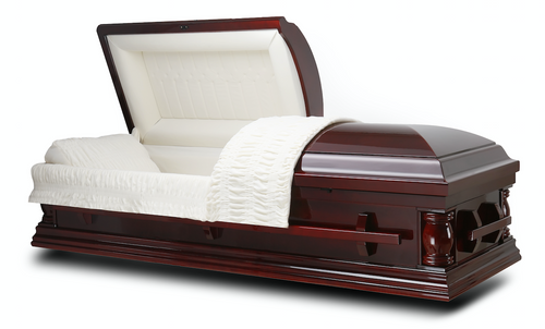 Elite Cherry Solid Wood Cremation Casket