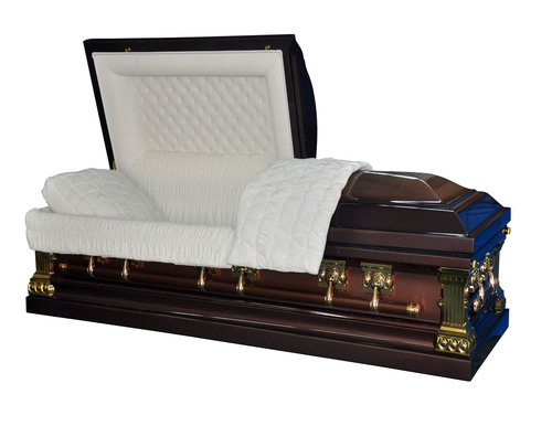 Heritage Bronze  Casket with Cream Velvet Interior - Metal Casket