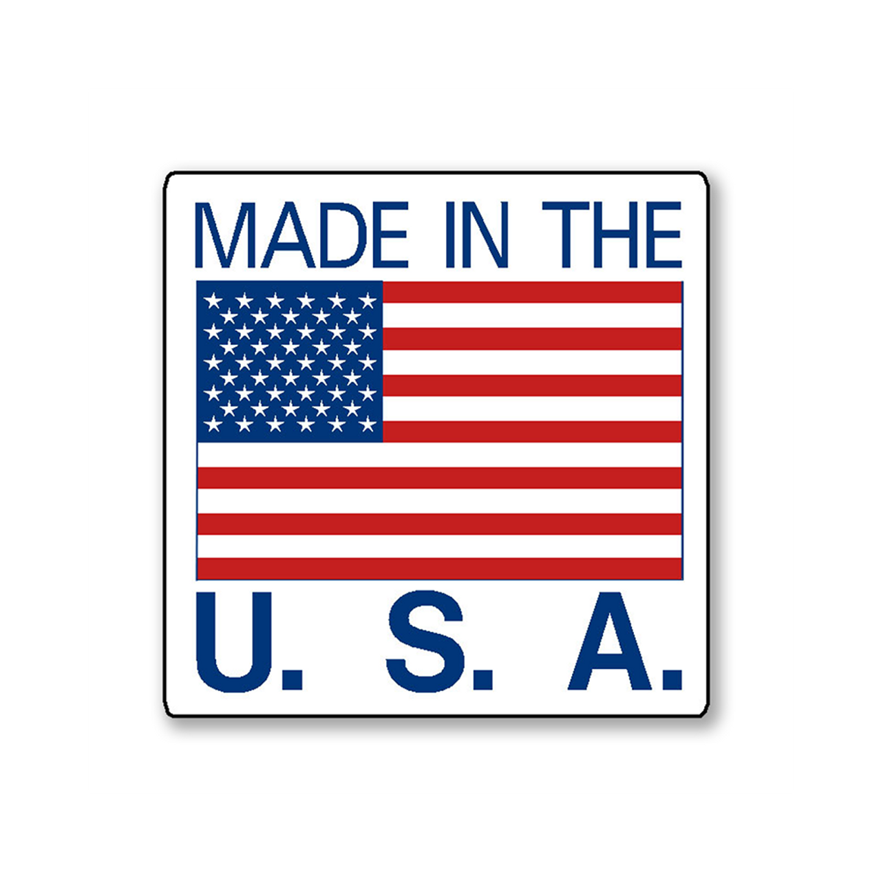 Made in USA Stickers 500 pcs per roll