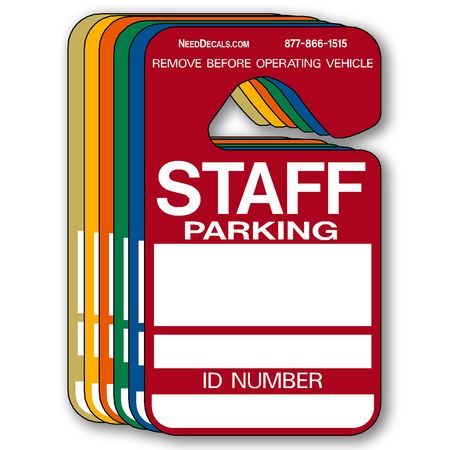 Staff Parking Hang Tag Permits - 25 Pack