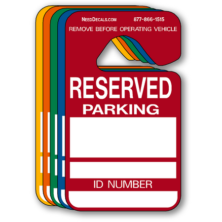 Reserved Parking Permit Hang Tags