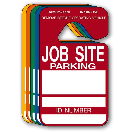 Jobsite Parking Permit Hang Tags