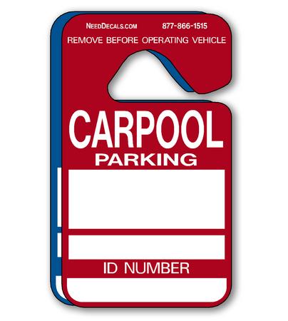 Carpool Parking Permits - 25 Pack