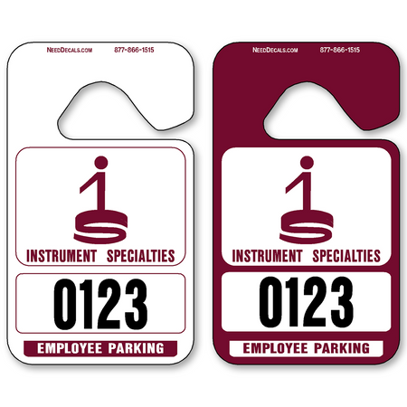 Maroon Hanging Parking Permits - Standard