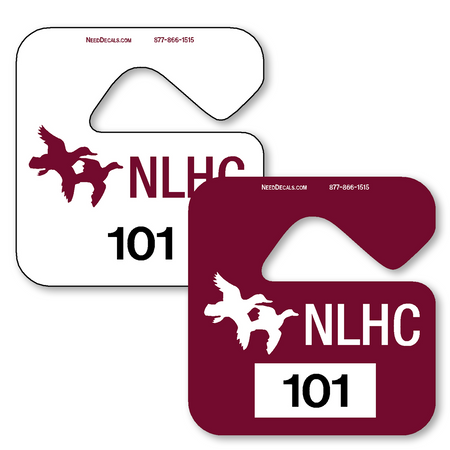 Hang tag parking permits allow endless design possibilities and project a professional image. Available in over 30 Stock Ink Colors or unlimited custom colors. These durable Parking Hang Tags are printed on heavy duty .035 inch material to give you the strongest parking permit available. Order today and get Free Setup, Free Numbering and Free Logo.