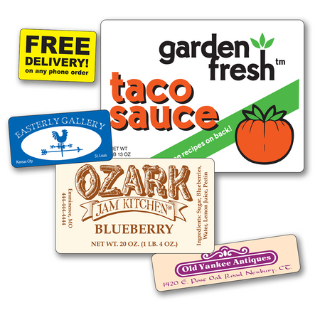 Medium Rectangle Roll Labels - TWO Colors