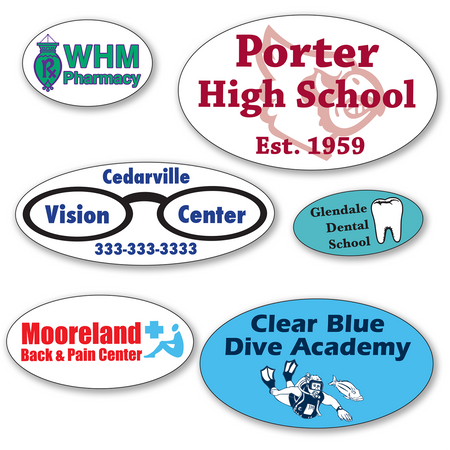 Small Oval Roll Labels - TWO Color (Per 1,000)
