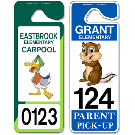 Giant #3645 - Student Carpool Hang Tags - Parent Pickup Tags