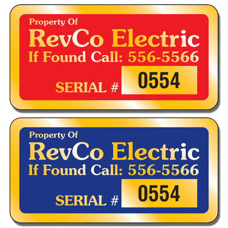 Gold Numbered Service Decals and Stickers