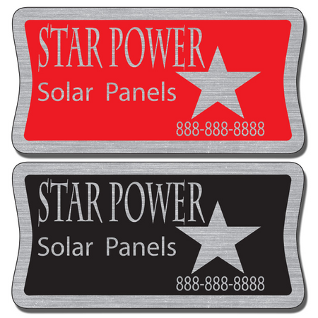 """3"""" X 1 1/2"""" Service Stickers For Equipment allow endless design possibilities and project a professional image."""