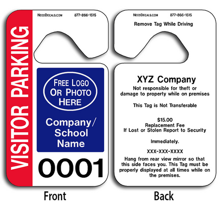 These durable Customizable Stock Parking Permit Tags are UV laminated front and back to give you the strongest parking permit available.
