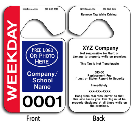Full Color Hanging Parking Pass Templates allow endless design possibilities and project a professional image.