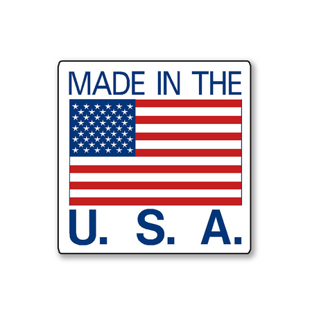 Made In USA Sticker - Rolls of 500