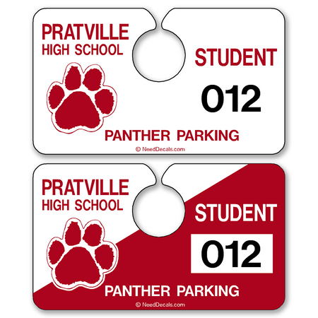 Custom Automotive Rear View Mirror Hang Tags allow endless design possibilities and project a professional image. Free Numbering, Free Logo and Free Back-Printing. These Hang Tags measure are 4 3/4 x 2 3/4 inches.