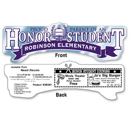Honor Student Bumper Sticker - Chrome