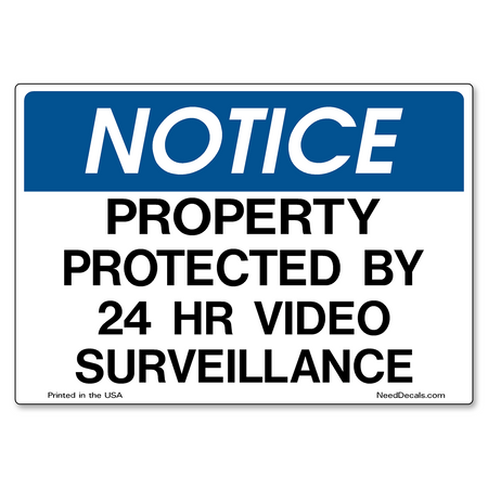 Decal Packs - 24 Hour Video Surveillance