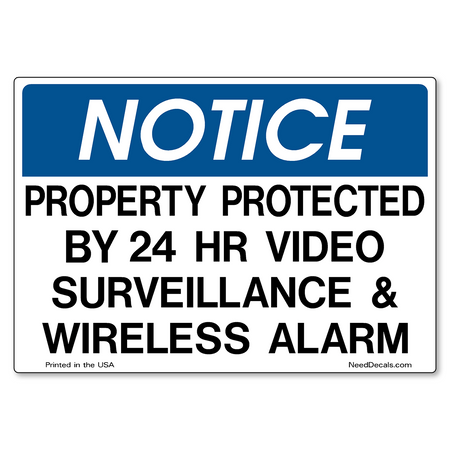 Decal Packs - Video Surveillance & Wireless Alarm
