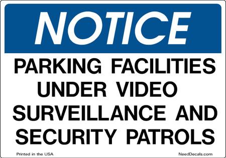 Decal Packs - Parking Facilities Security