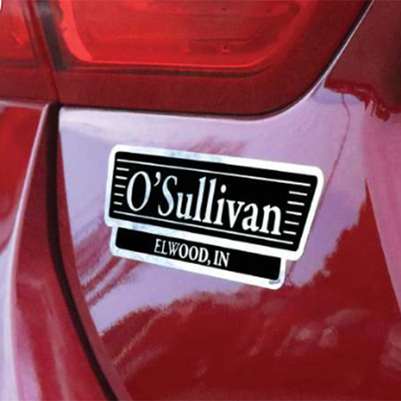 Chrome Car Dealer Name Decals - Auto Ads