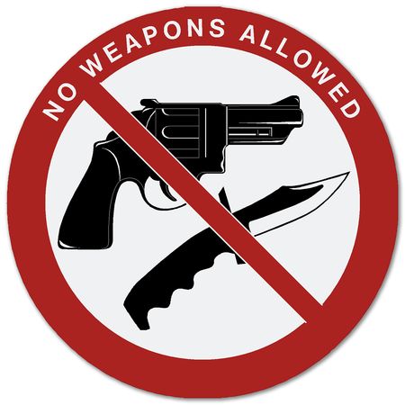 No Weapons Decals