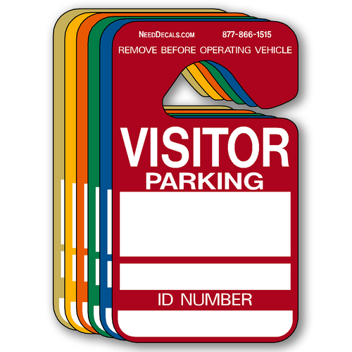 Stock Visitor Parking Hang Tag Permits - 25 Pack
