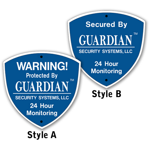 These bright easy to read Home Alarm Signs help protect your home, business, and loved ones even if you do not have an alarm system. Matching Decals are also available. Order this sign if you wish to use your own stake or mount the sign to the exterior of your home or business. Industry standard Home Alarm Signs measures approximately 9 x 9 inches.