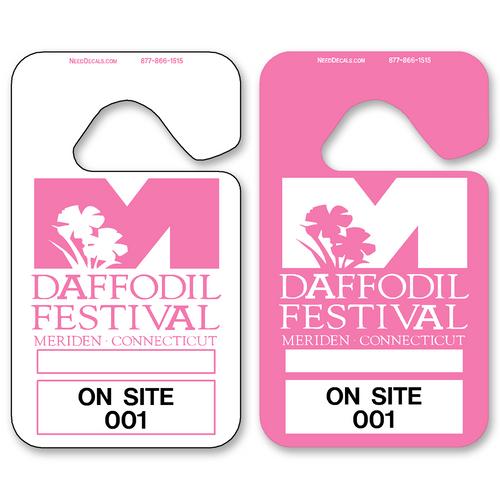 Pink Hanging Parking Permits - Standard