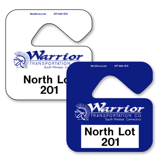 Parking Tags allow endless design possibilities and project a professional image. Available in over 30 Stock Ink Colors or unlimited custom colors. These durable Parking Hang Tags are printed on heavy duty .035 inch material to give you the strongest parking permit available. Order today and get Free Setup, Free Numbering and Free Logo.