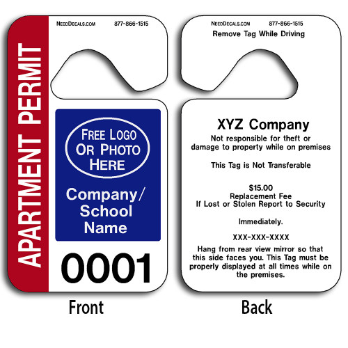 4-Color Process Car Hang Tags allow endless design possibilities and project a professional image. These durable Car Hang Tags are UV laminated front and back to give you the strongest parking permit available