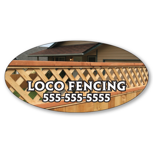 """4"""" x 2"""" Full Color Custom Outdoor Oval Decals"""