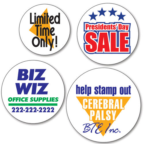 Mini Custom Round Labels - TWO Color