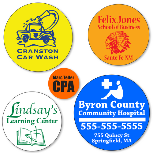 Large Custom Round Stickers  - ONE Color