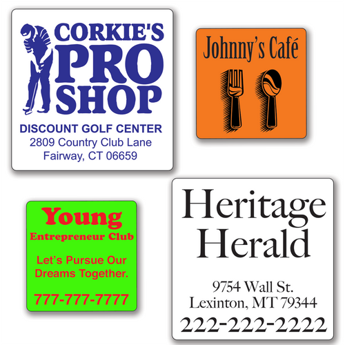 Small Square 2 x 2 inch Roll Labels - ONE Color
